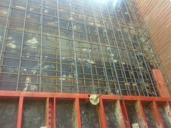 Muro Hormigón Paseo San Jorge de Santa Coloma de Gramenet