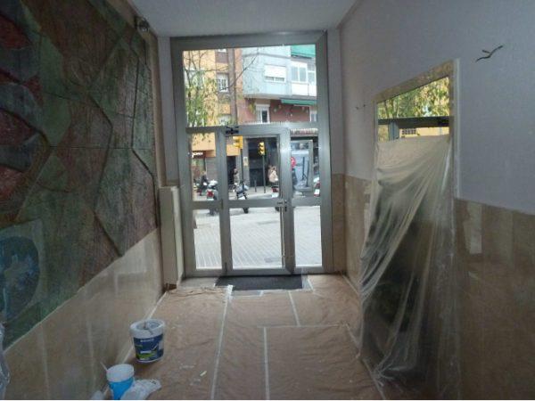 Rehabilitación interior vestíbulo Santa Anna