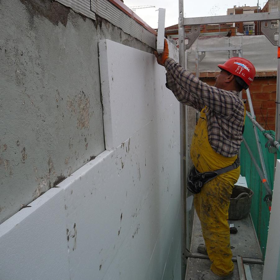 Aislamiento termico en fachada impermeabilizaciones - Aislamiento de paredes ...