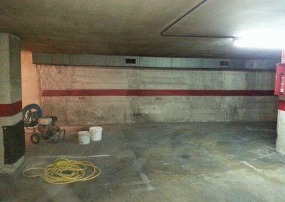 Muro Parking bajo nivel freático C/ Pascual, 8 Montcada i Reixac